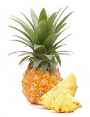 Pineapple tropical fruit or ananas isolated on white background cutout