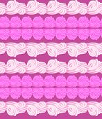 Vector Abstract Seamless Pattern With Sweet Cream Stripes