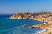 Atlantic Ocean Coast. Landscape Of Gibraltar Strait, Morocco