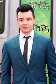 LOS ANGELES - AUG 3:  Noel Fisher at the Teenage Mutant Ninja Turtles Premiere at the Village Theater on August 3, 2014 in Westwood, CA