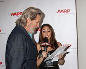 LOS ANGELES - AUG 1:  Jeff Bridges, Danielle Robay at the AARP Luncheon  IHO Jeff Bridges at the Spa