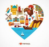 picture of cockerels  - Portugal love  - JPG