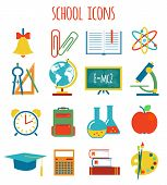 set of icons education.flat style