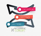 Vector circulation arrows infographic concept. Modern flat paper line art design with tags or your o