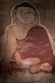 Buddha Fresco On Wall