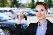 Businesswoman With Car Keys