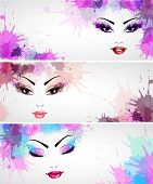 Set of fashion banners