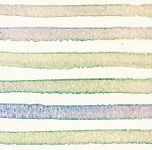 Watercolor Background With Vintage Colorful  Stripes.