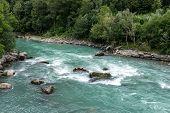 Dora Baltea River Near Issogne, Ayas Valley (italy)