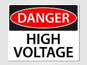 Danger high voltage sign vector illustration