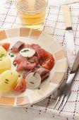 Sliced Pink herring Fillet With Potato