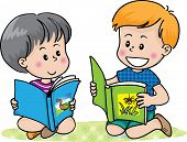 2 boys reading