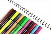 Colorful Pen On White Background