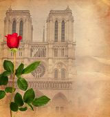 Vintage Background With Notre Dame