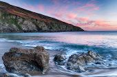 Sunset On The Cornish Coastline