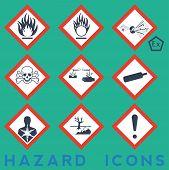 stock photo of hazard symbol  - Hazard Icons - JPG