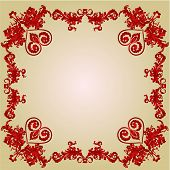 Valentines Hearts And Ornaments Frame Vector