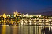 Prague Castle And Vltava River