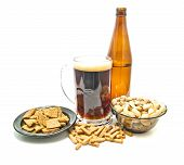Beer And Different Snacks