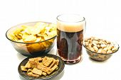 Dark Beer And Snacks