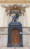 Entrance Of The Holy Cross Church (1696) In Warsaw, Poland