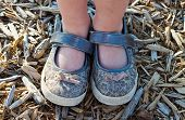 Close-up Of A Little Girl's Shoes