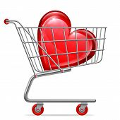 Love Heart in Shopping Cart