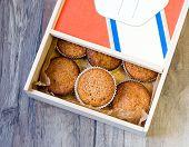 Muffins In A Wood Box