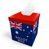Australia election ballot box for collecting votes