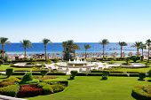 The Fountain Near Beach At The Luxury Hotel, Sharm El Sheikh, Egypt