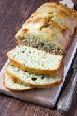 stock photo of pound cake  - Lemon and poppy seed pound cake - JPG