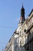 VIENNA, AUSTRIA - OCTOBER 10: Viennese Classical style building  in Vienna, Austria on October 10, 2014.