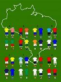 Brazil Football Cup Groups Map Jerseys
