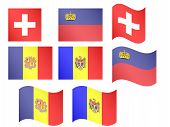 European Flags 9 Eps 10