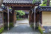 A Street And Courtyard In The Old Samurai Quarter In Kanazawa, Japan