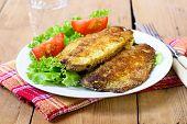 Fried Mackerel On Plate