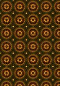 foto of oval  - Bright background with pattern of ovals of with beads by circle and with bright pattern - JPG