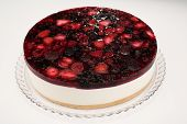 fruit cream cheesecake