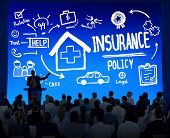 stock photo of insurance-policy  - Diversity Business People Insurance Policy Seminar Conference Concept - JPG