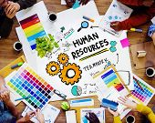 Human Resources Employment Job Teamwork Design Working Concept