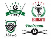 Billiards And Poolroom Logo And Emblems