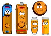 Orange Juice Cartoon Characters