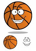 Basketball ball cartooned mascot