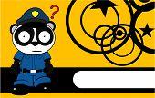 teddy panda bear cop cartoon background