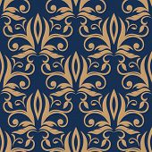 Seamless pattern with light brown flowers