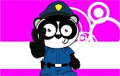 panda bear cop cartoon background