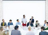Business People Corporate Meeting Presentation Corporate Diversity Concept