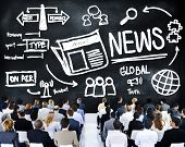 News Journalism Information Publication Update Media Advertisment Concept