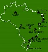Brazil Cities Map