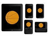 Mobile Devices With Basketball Black